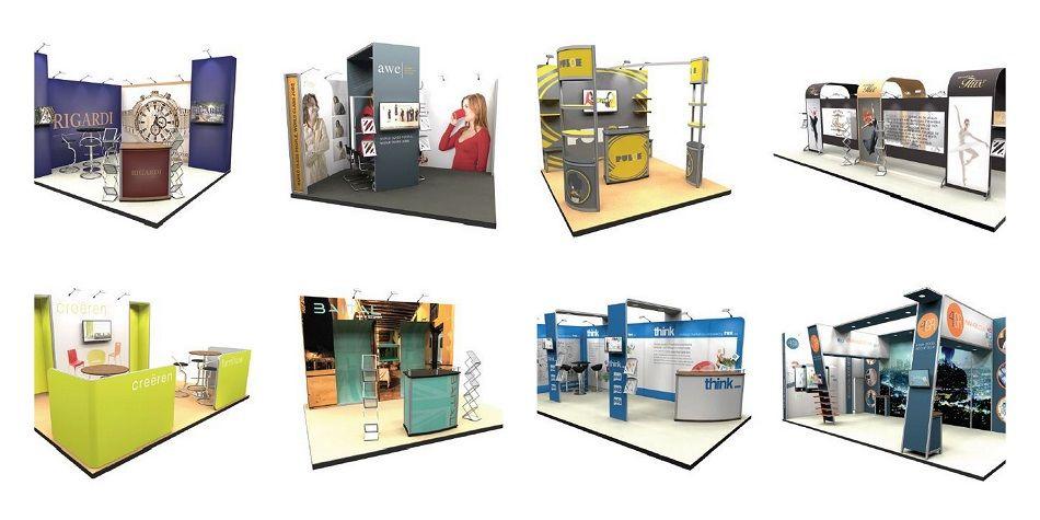 Custom modular stands collage