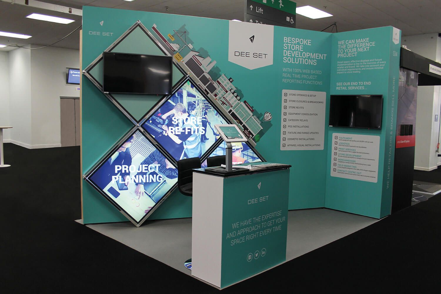 T3 modular custom exhibition display