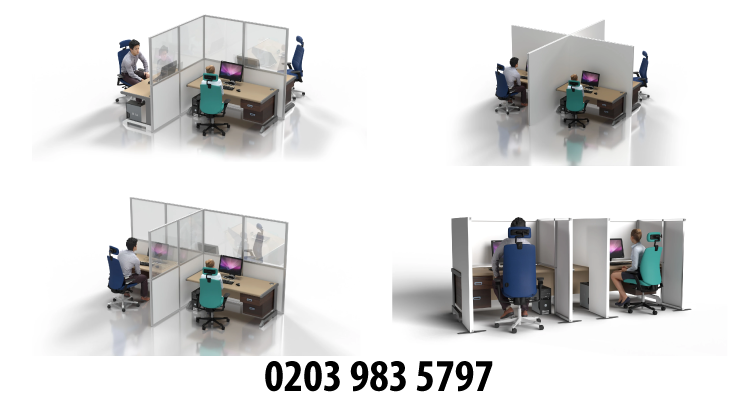 Desk Virus Barrier Divider System